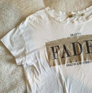 Zara Large Trendy Minimalist Graphic Tee Shirt